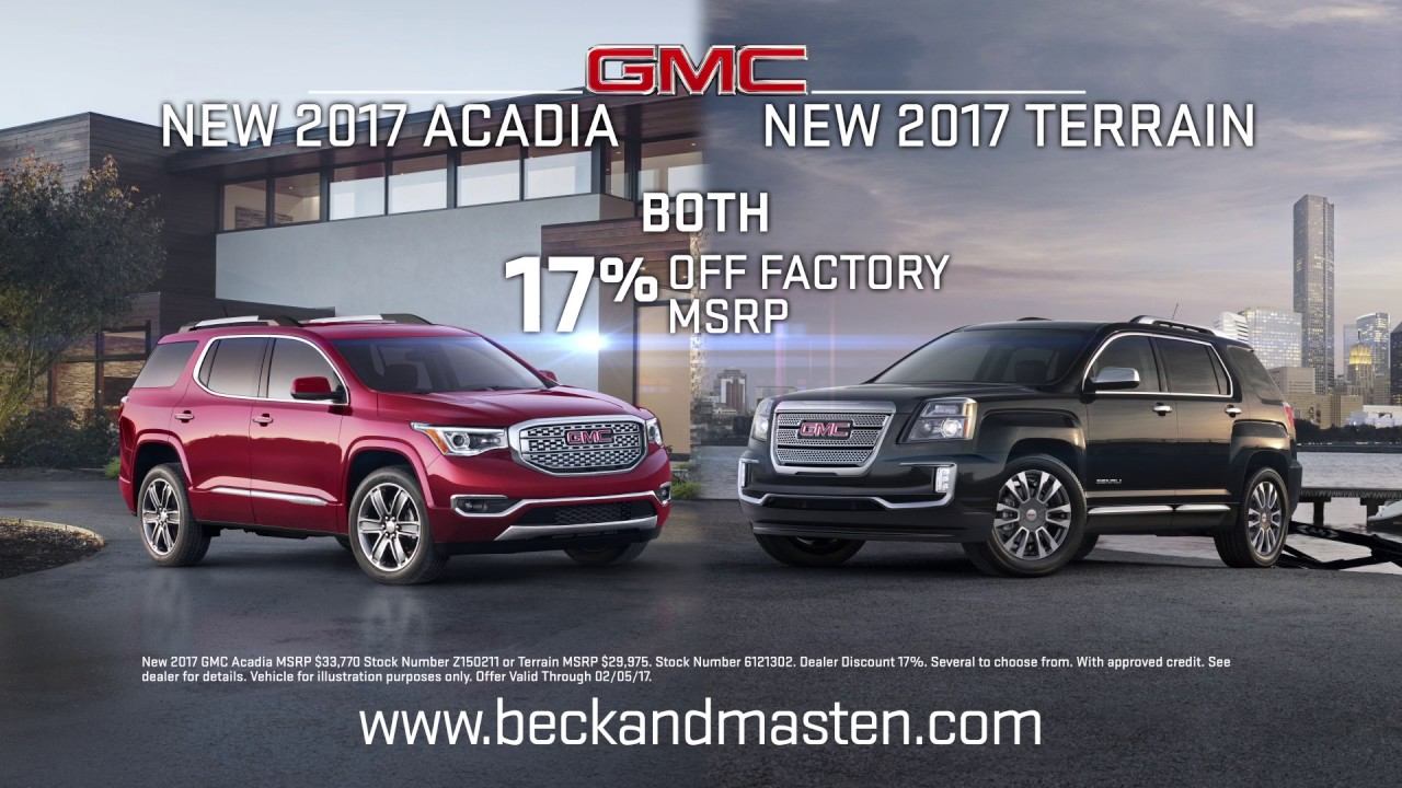 Beck Masten North   2017 Acadia   2017 Terrain   YouTube