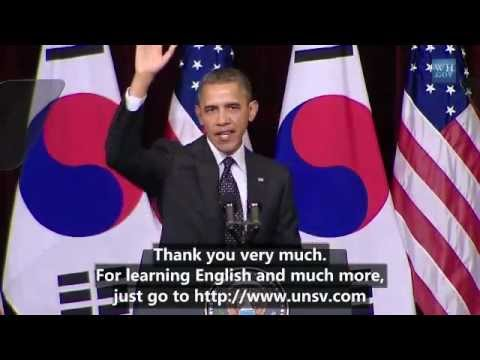 President Barck Obama Speaks at Hankuk...