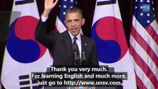 President Barck Obama Speaks at Hankuk University (English Subtitles)