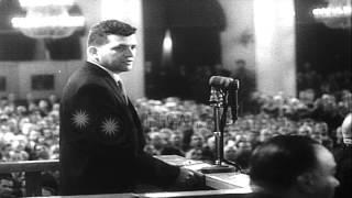 Soviet leader Nikita Khrushchev raises incident of captured U2 spy plane and pilo...HD Stock Footage