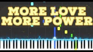 More Love More Power (Piano Solo Cover) | Easy Worship Piano Tutorial
