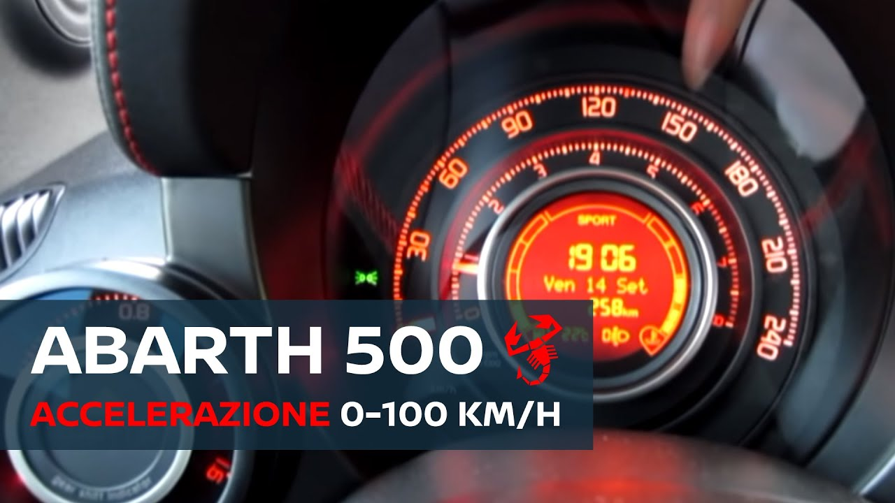 500 Abarth 1 4 Turbo 135cv 0 100 Km H Acceleration Test