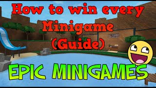 Roblox - Epic Minigames | How to win each Minigame (Guide) - Part 2