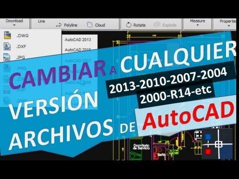 Cambiar versión de archivo de AutoCAD a cualq…