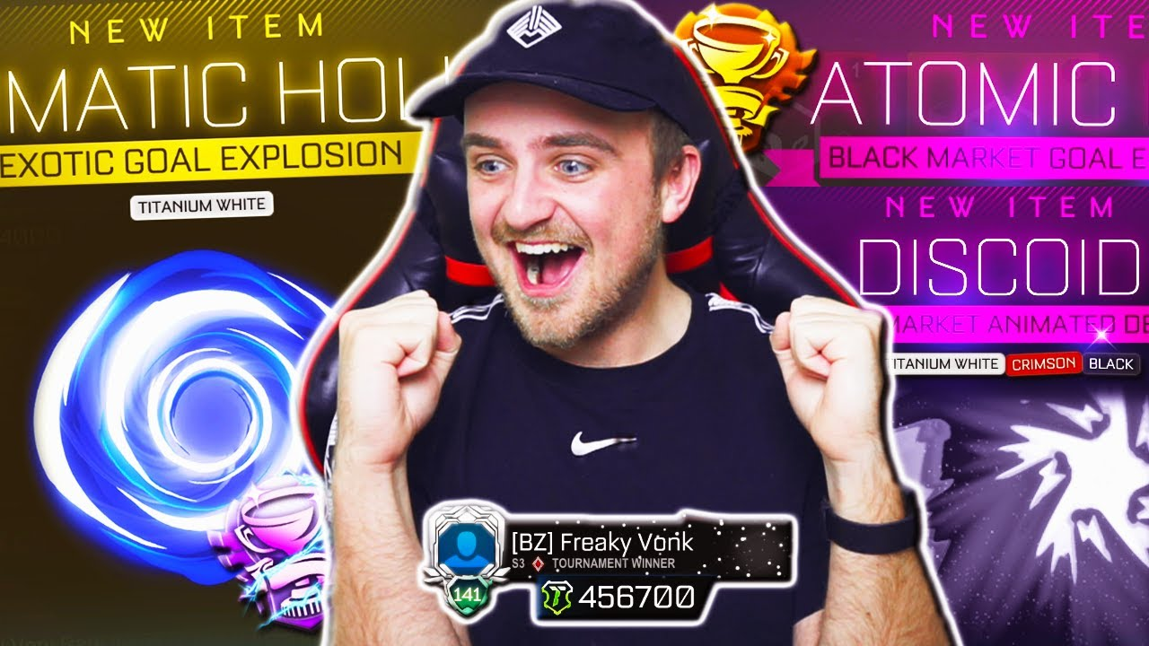 A FAN WITH NEARLY HALF A MILLION CREDITS GAVE ME HIS ROCKET LEAGUE REWARDS TO OPEN & TRADE UP!