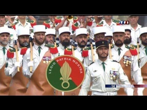 """""""LEGIO PATRIA NOSTRA"""".La légion étrangère.French Foreign Legion .Défilé 14 juillet 2012"""
