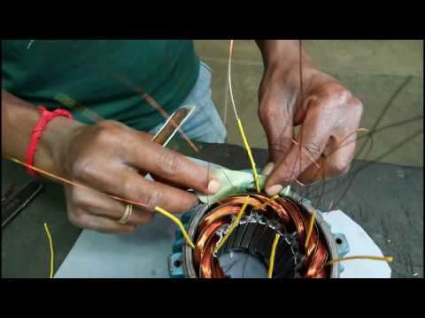 Winding connection of three phase motor