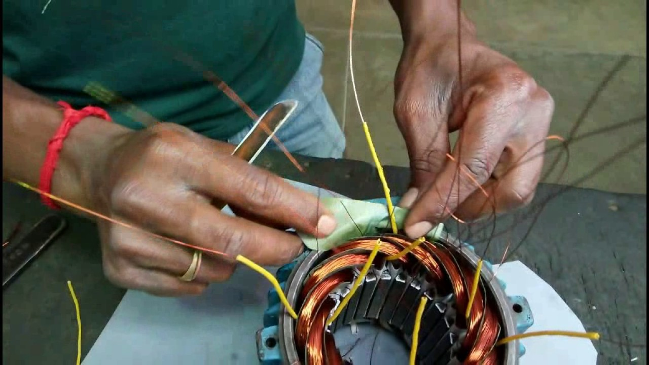Winding connection of three phase motor - YouTube