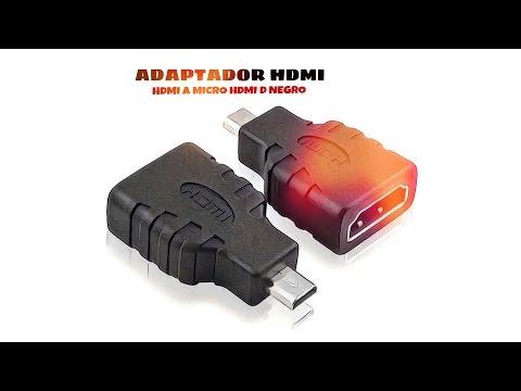 Video de Adaptador HDMI a Micro HDMI D  Negro