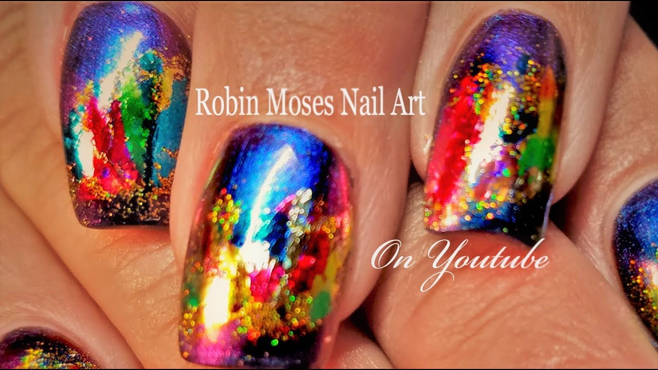 Tips for Foiling nails with glitter! Inexpensive Fast Nail Art ...