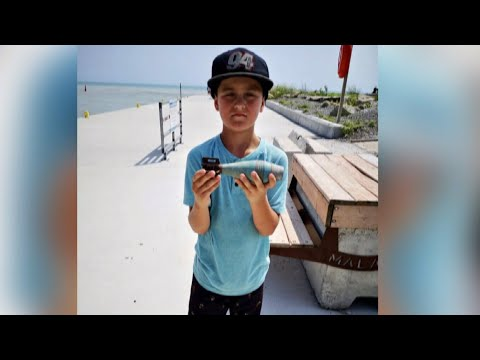 Explosive find for boy magnet fishing on Lake Erie