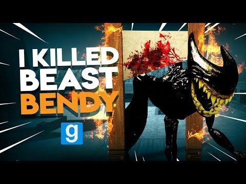 I KILLED BEAST BENDY | Gmod Sandbox I Killed w/ Fans