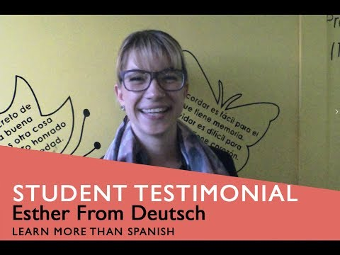 General Spanish Course Student Testimonial by Esther from Deutsch