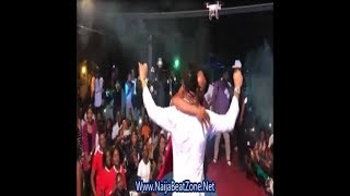 Female Fan Kissing Tekno on Stage During His Performance in Congo