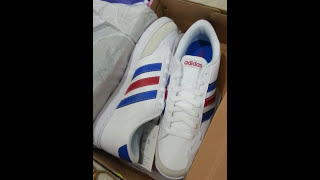 adidas neo courtset white sneakers unboxing