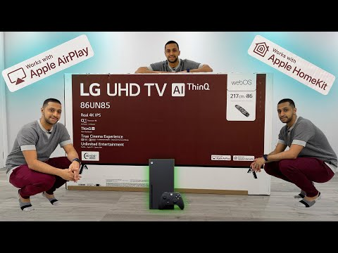 "Massive LG 86"" UHD TV Unboxing + Airplay Setup + HomeKit Setup + Xbox Series X Gameplay 4k 120 Hz"