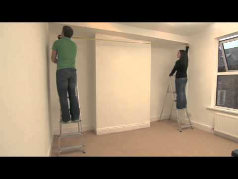 measuring up for made to measure sliding wardrobe doors. Black Bedroom Furniture Sets. Home Design Ideas