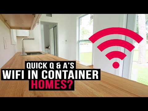 How is Wi-Fi/Cell Reception in a Shipping Container Home? | Quick Q & A's