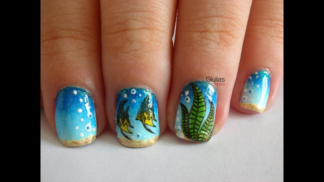 Nail Art - Tutorial 171 - Under the sea con Born Pretty ...