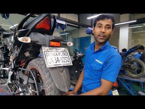 Suzuki Motorcycle Showroom & Service Cafe Dhaka, Bangladesh 😀😀😀