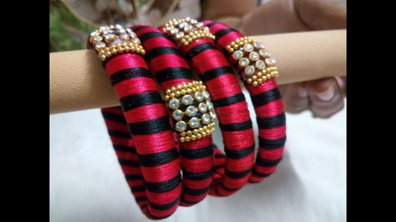 latest thread bangles models - YouTube