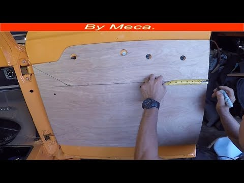 Making a  1957 ford truck doors panels.