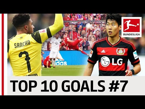 Top 10 Goals - Players with Jersey Number 7 - Heung-Min Son, Ribery, Sancho & Co.
