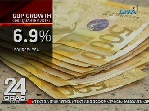 24 Oras: GDP growth ng Pilipinas sa 3rd quarter ng 2017, lumago ng 6.9%