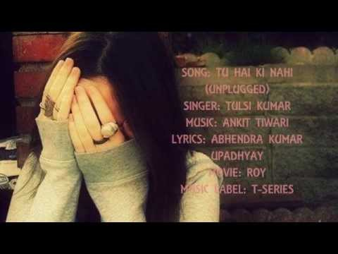 'Tu Hai Ki Nahi (Unplugged) ~~ with Lyrics