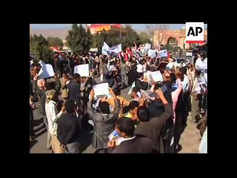 4:3 Pro and anti-government protesters demonstrate in Sana'a