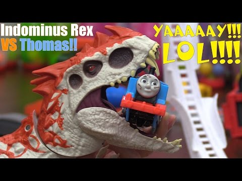 Dinosaur Toy! Train Toys! Thomas the Tank Engine Versus The Indominus Rex Dino! Fun Playtime!