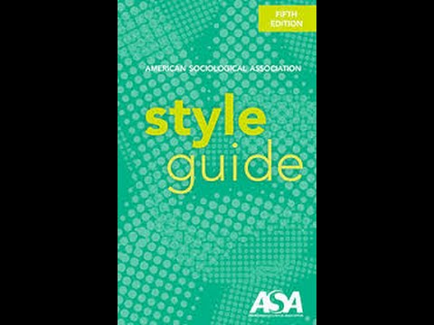 ASA Quick Style Guide Overview - YouTube - asa style headings