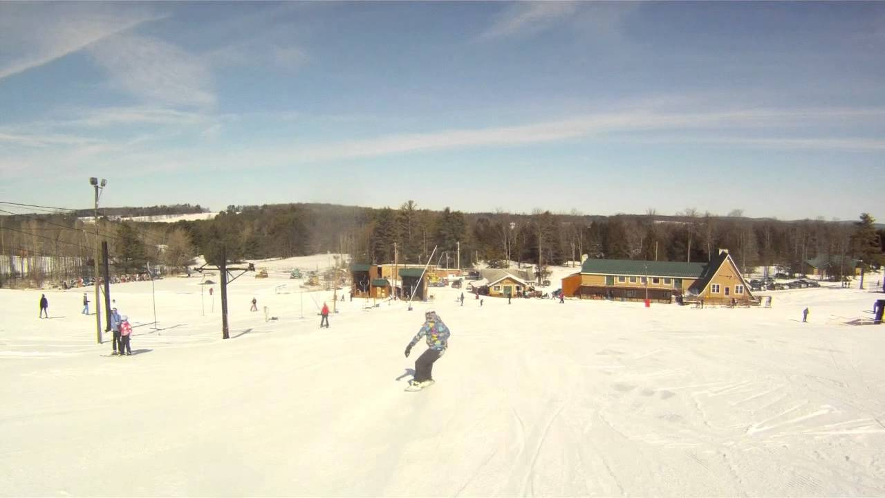 snowboarding at ski sawmill with a gopro