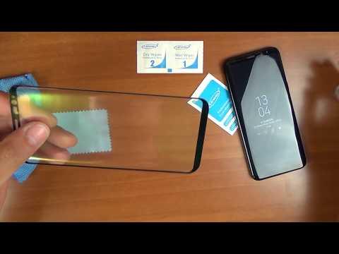 Как клеить защитное стекло на телефон самсунг