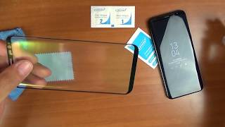 Как наклеить стекло на Galaxy S8+ и для чего