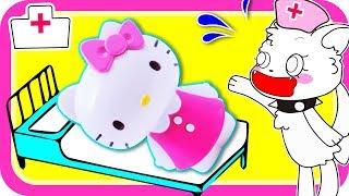ハローキティ Hello Kitty★おしゃべりお医者さんセット*サンサン達の楽しいごっこ遊び★おままごと おゆうぎ サンサンキッズTV toys kids video