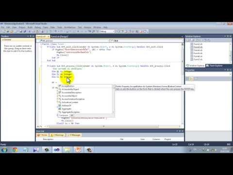 โครงสร้างในการเขียนโปรแกรมด้วย Visual Basic