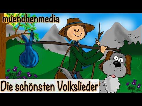 Die schönsten Volkslieder - Video Mix - Kinderlieder zum Mitsingen   Kinderlieder deutsch