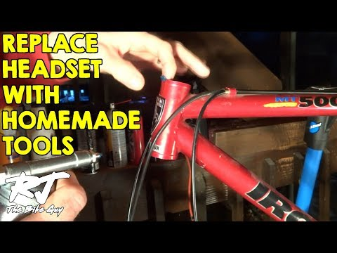 Replace Bike Headset With Cheap Homemade Tools