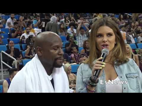 Floyd Mayweather Drops 9 pts 4 Assist At Half Could Be Money In Basketball To EsNews Boxing