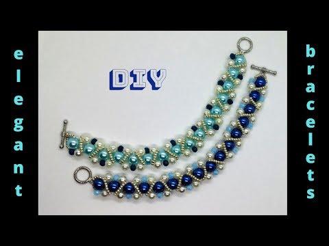 Diy elegant bracelet. Simple beading jewelry making tutorial. Beaded Bracelets