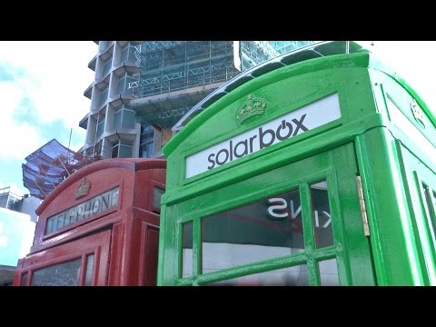 London's Iconic Red Telephone Boxes To Become Neon-green Mobile Phone Chargers