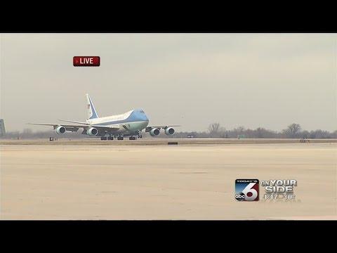 President Obama's Arrival In Boise