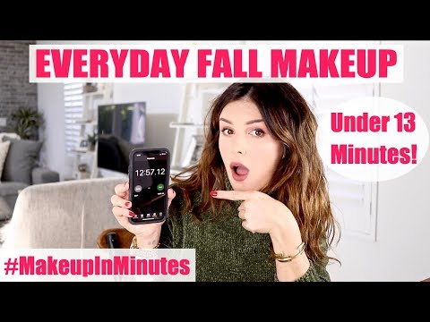 MY EVERYDAY FALL MAKEUP IN UNDER 13 MINS!  Makeup In Minutes  Shenae Grimes Beech