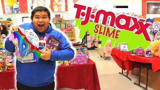 TJ MAXX SLIME CHALLENGE !! SHOPPING FOR SLIME SUPPLIES AT TJ MAXX AND ROSS !!!