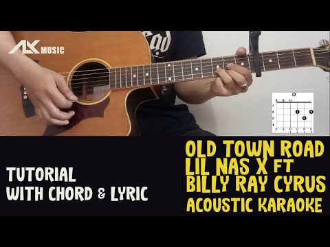 Lil Nas X - Old Town Road [ Acoustic Karaoke with Chord & Lyric ]
