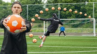 This FOOTBALL is OVERPOWERED! EXTREME FREEKICK CHALLENGE