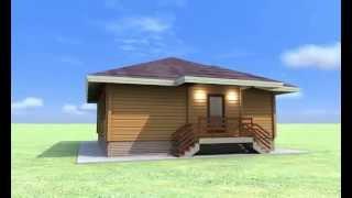 Одноэтажный дом из клеёного бруса 9,5х10,5 S=90 м2(, 2013-11-01T07:22:40.000Z)
