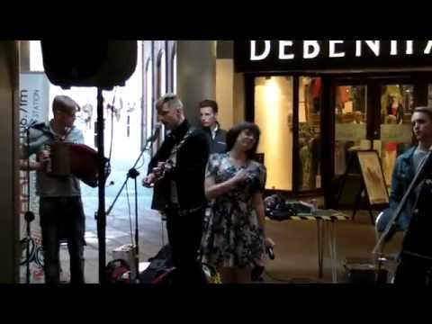 Skinny Lister - Bold As Brass (live at Crowngate Shopping Centre, Worcester - 18th April 15)