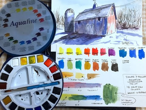 Daler Rowney Aquafine Watercolors - Review and Demo